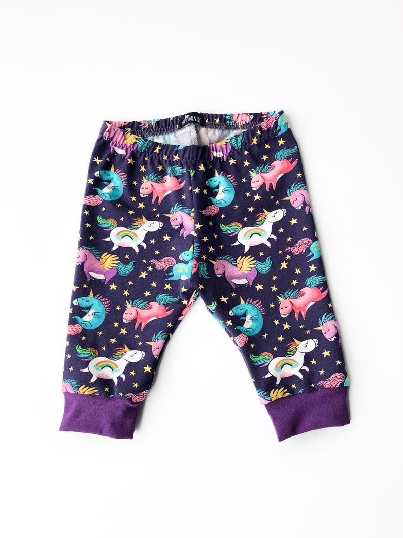 88cdd2d6a2be2 Baby girl unicorn crop leggings toddler cropped unicorn | Etsy