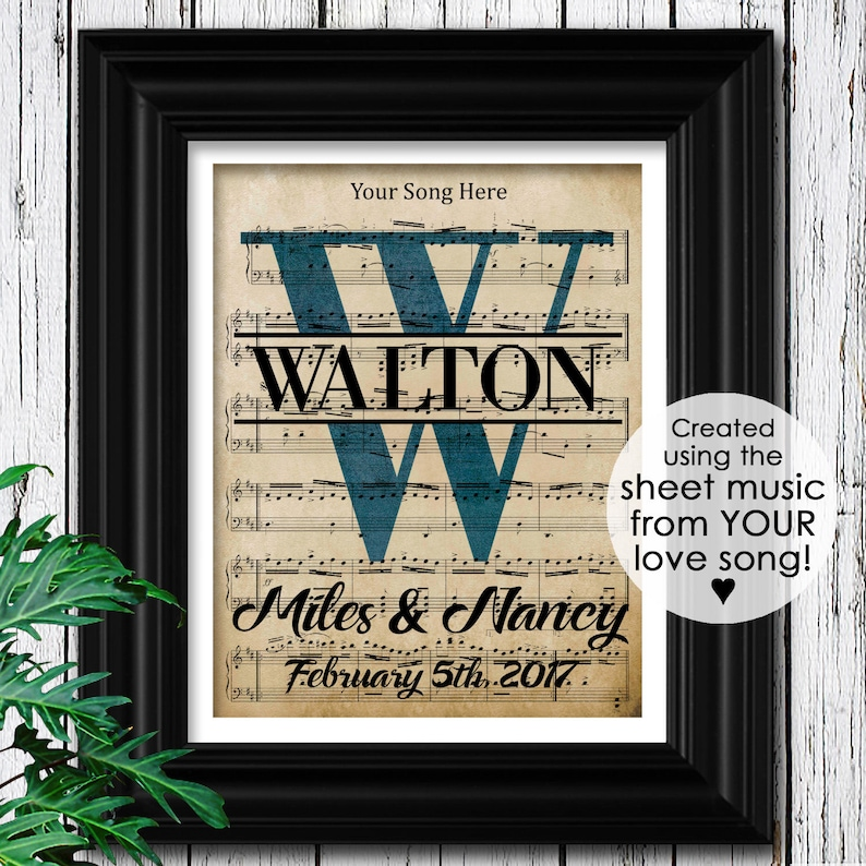 9dcc7f0ee4c Your Wedding Song Personalized Husband Valentine Gift for