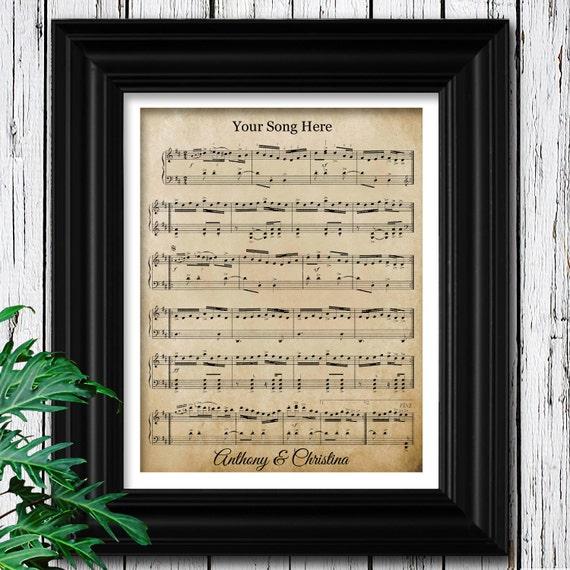 YOUR WEDDING SONG Sheet Music on Velvet Paper 15th | Etsy