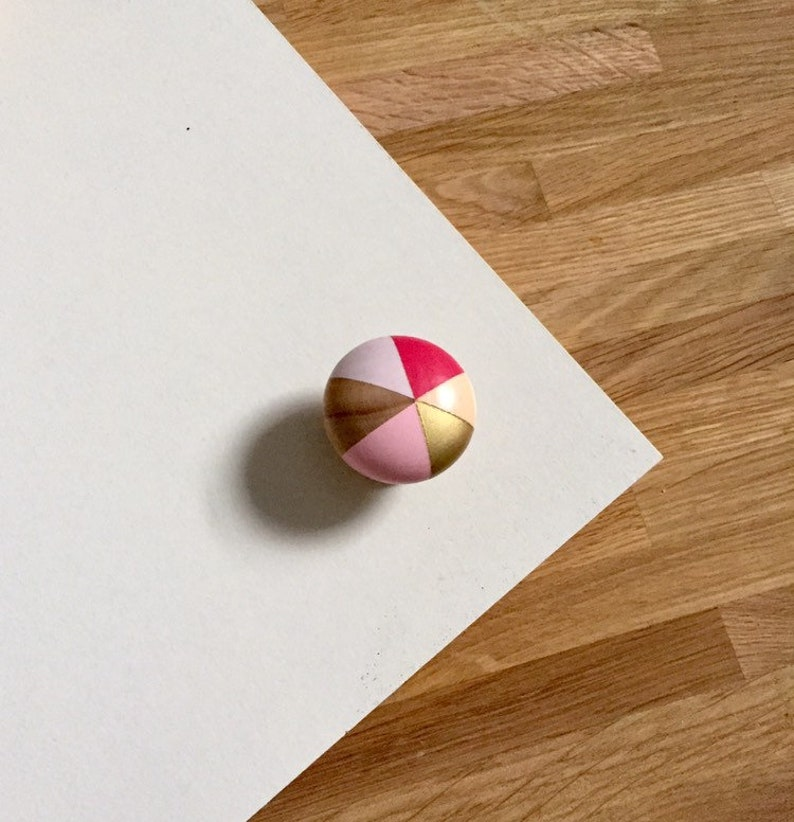peach Hand painted colourful pinks Cherry Blossom homewares sustainable gifts gold /& wood colourful geometric door knobshandles