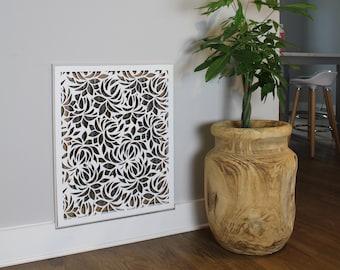 Magnetic Air intake Custom Decorative  Vent -  Leaves Design