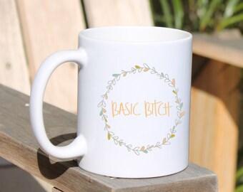 Coffee Mug   Basic   Funny Coffee Mug   Cute Coffee Mug for Friend   Bestie Birthday Gift   Floral Mug   Flower Mug   Sassy Basic Mug