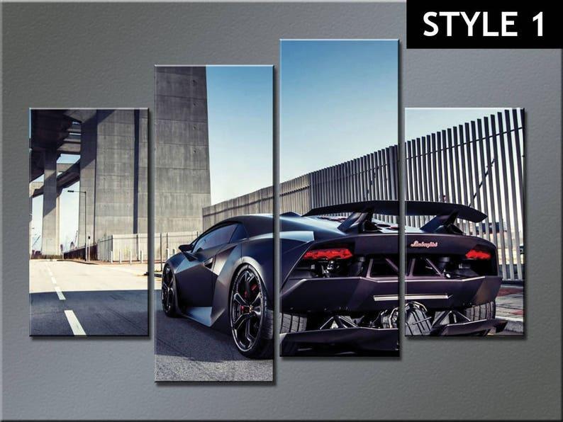 Lamborghini Sesto Elemento Super Sports Car Canvas Etsy
