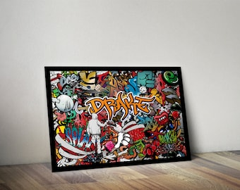personalised Abstract Graffiti poster