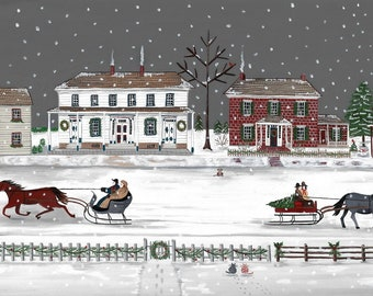 Historic Zoar, Ohio at Christmas/print