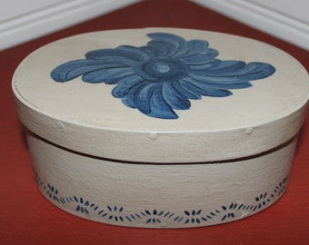 Decorated Stoneware Pantry Box