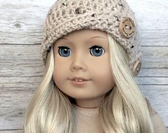 DIY Crochet Pattern - 18 inch Doll Button Cloche Hat PDF 27 (Fits American Girl Dolls) – Digital Download