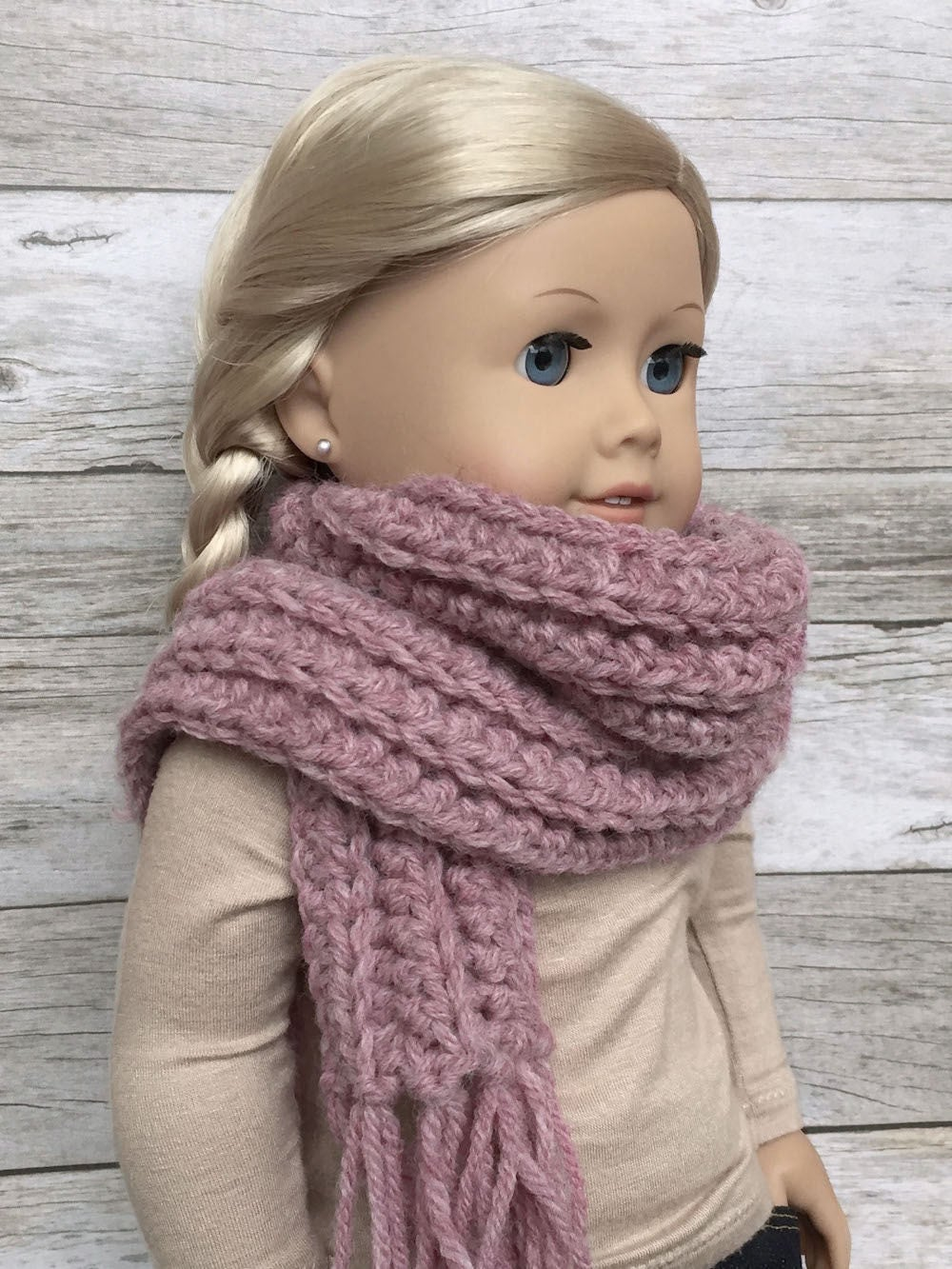 Diy Crochet Pattern 18 Inch Doll Fringe Scarf And Pet Collar Etsy