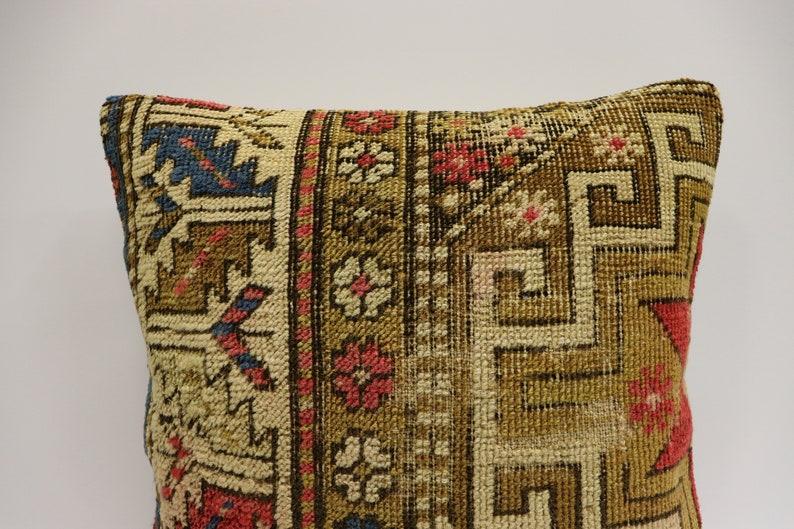 Handwoven Pillow Turkish Carpet Pillow Bohemian, Decorative Pillow Cushion Cover Carpet Pillow 16x16\u0130nches Carpet Cushion Cover