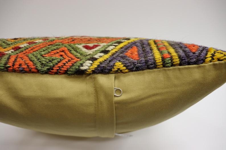 Handwoven Pillow Cushion Cover Vintage Kilim Pillow Kilim Cushion Bohemian Pillow Turk Multicolor Kilim Pillow 16x16inch 40x40cm
