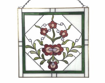 Stained Glass Window - Hungarian Flowers