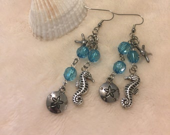 Turquoise Sea horse Earrings