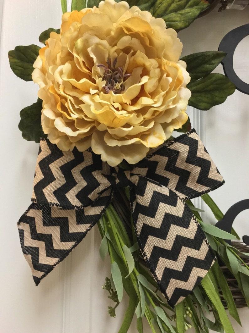 Grapevine Wreath Monogram Wreath Wreath with Letter Wreath Personalized Wreath Initial Wreath Front Door Wreath