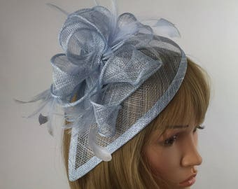 Very Pale Blue pastel blue Fascinator wedding fascinator mother bride  Ladies Day   Ascot races e2964c7493a