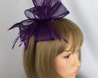 Purple Fascinator Wedding Fascinator Mother of the Bride Ascot Races Ladies  Day Occasion Event Hat 330ad158a30