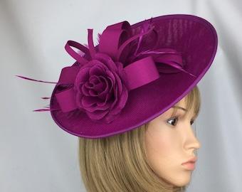 347e001b748cb Magenta Fascinator Wedding Mother of the Bride Pink Hatinator Purple  Fascinator Ascot Derby Races