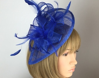 Royal Blue Fascinator Blue Wedding Fascinator Mother of the Bride Ladies  Day Ascot races Formal Occasion Races Day Garden Party fdd82845d90
