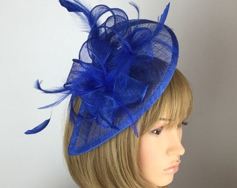 Royal Blue Fascinator Blue Wedding Fascinator Mother of the Bride Ladies  Day Ascot races Formal Occasion Races Day Garden Party 4af4a3c117f