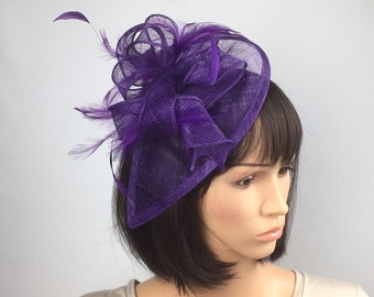 e7bbd572 Purple Fascinator Wedding Mother of the Bride Ascot Ladies Day Prom Occasion