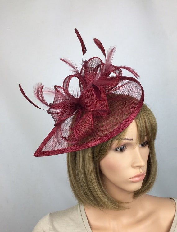 New Ladies Wedding Events Show Races Occasion Fascinator Headband Bow Feather