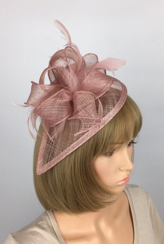 Blush Pink Fascinator Wedding hat Mother of the bride Ladies  71ad69ed96c