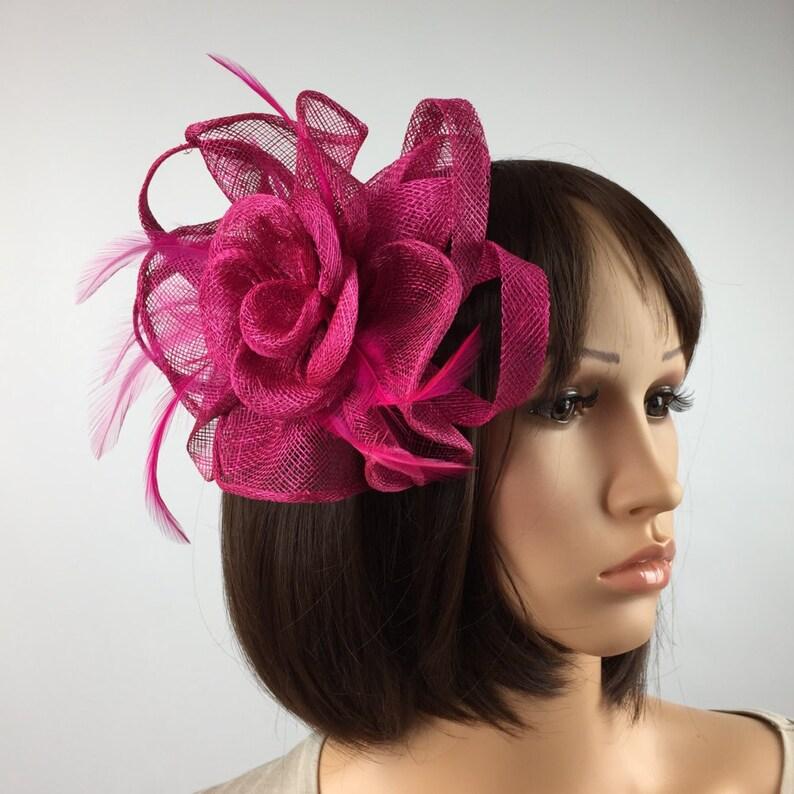 4bebc98cf0e79 Fuchisia Pink Fascinator Hatinator Comb Wedding Ascot Races