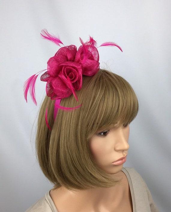 Fuchsia Fascinator Hot Pink Wedding Fascinator Mother of Bride  0d5a6f2889e