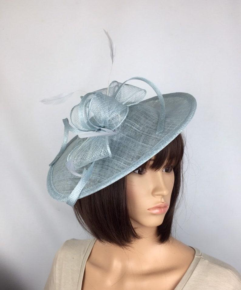 72a038e7 Pale Blue Fascinator Baby Blue Hatinator Light Blue Wedding | Etsy