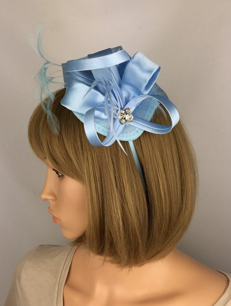 825497fd Light Blue Fascinator Baby Blue Fascinator Pale Blue Wedding | Etsy