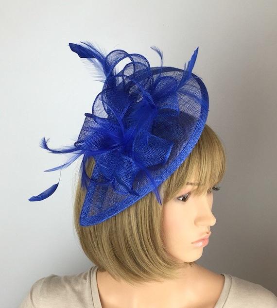 Royal Blue Fascinator Blue Wedding Fascinator Mother of the  6f8fa566ac3