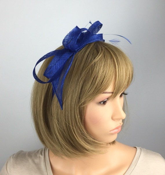 f9ecc20ba78 Royal Blue fascinator on Aliceband wedding fascinator mother