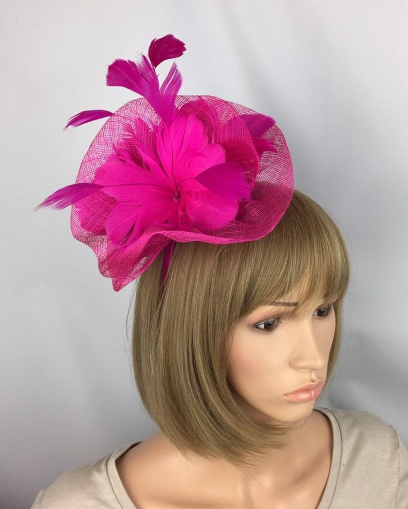 49fb558df4b4e Fuchsia Pink Fascinator Pink Hatinator Wedding Mother of the