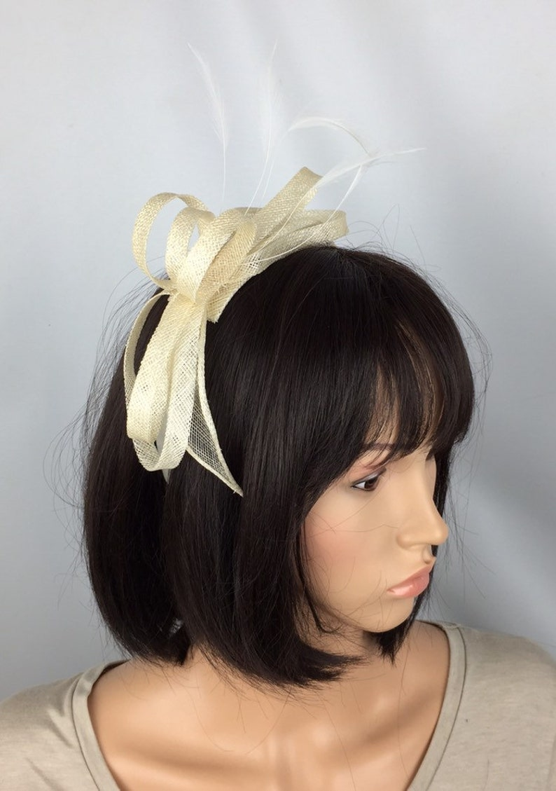 3f12c485d7f Ivory Fascinator Cream Fascinator on headband Wedding Mother