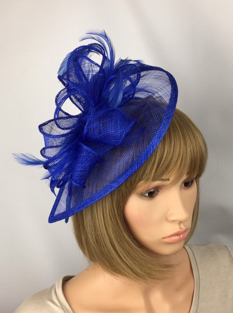 788b07bb1c9 Royal Blue Fascinator Hatinator Wedding Mother of the Bride