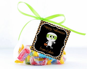 Halloween Treat Tags, Trick or Treat Tags, Printable Personalized Halloween Tags, Halloween Gift Tags, Tags, Treat Tag, Favor Tags