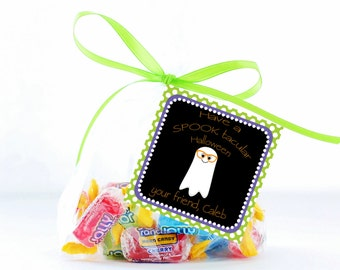 Halloween Treat Tags, Ghost Tag, Printable Personalized Halloween Tag, Halloween Gift Tags, Tags, Treat Tag, Favor Tag Trick or Treat