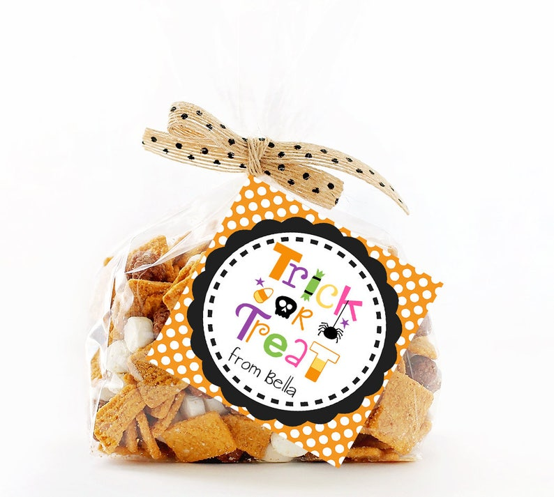 image 0  sc 1 st  Etsy & Halloween Favor Tags Trick or Treat Tag Printable | Etsy
