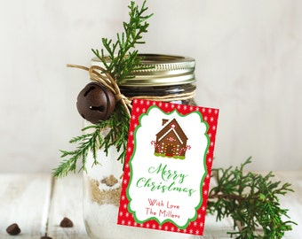 Christmas Gift Tags,  Printable Personalized Holiday Tags,  Merry Christmas Gift Tags,  Holiday Labels,  Christmas,  Favor Tags, Digital