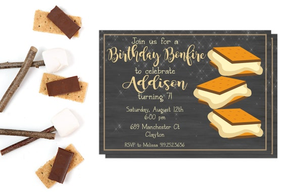 bonfire invitations bonfire invites bonfire party etsy