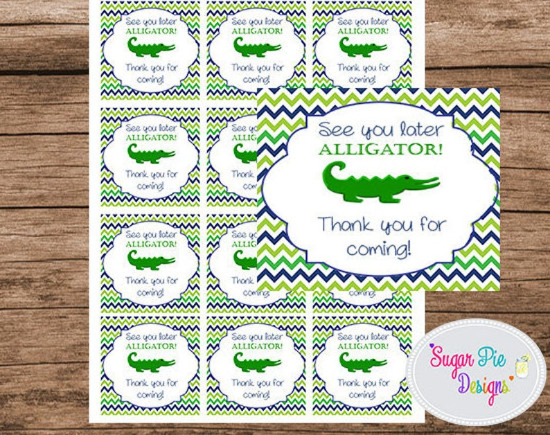 photograph relating to See You Later Alligator Poem Printable titled Like Tags, Preppy Alligator Birthday Social gathering, Alligator Birthday Get together, Thank By yourself, View oneself afterwards alligator tags, Electronic down load tag