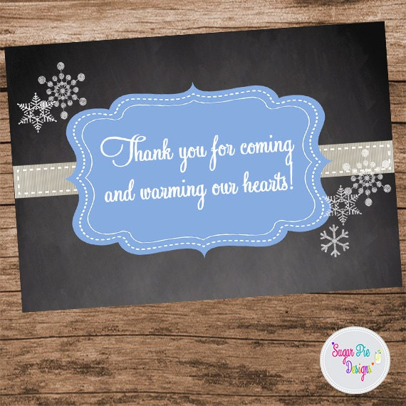 Thank You Favor Tag Baby Its Cold Outside Baby Shower Etsy