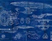 Star Trek Enterprise USS 1701-D Blueprint Art Print