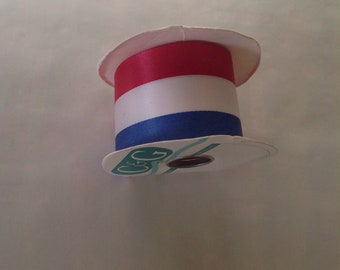 Red White & Blue Patriotic Ribbon for crafts - Made in USA