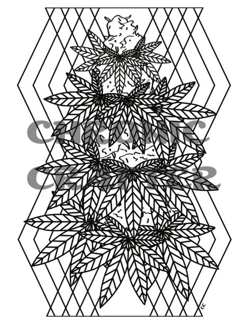 It is a picture of Resource Cannabis Coloring Pages