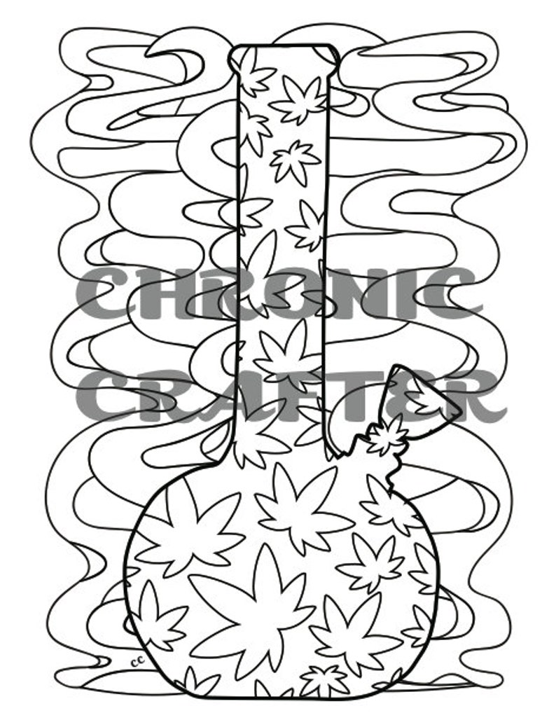 A Stoner Coloring Book: Color Me Cannabis Instant Digital ...