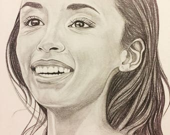 Custom Pencil Portrait drawing Personalized gift Portrait Custom sketch Portrait drawing Art from picture Wedding gift Birthday gift