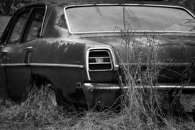 Masculine Decor Old Ford Car Photo Classic Old Car Art for Man Cave Vintage  Car Art Garage Art Chasing Classics Junkyard Car Art Men's Decor