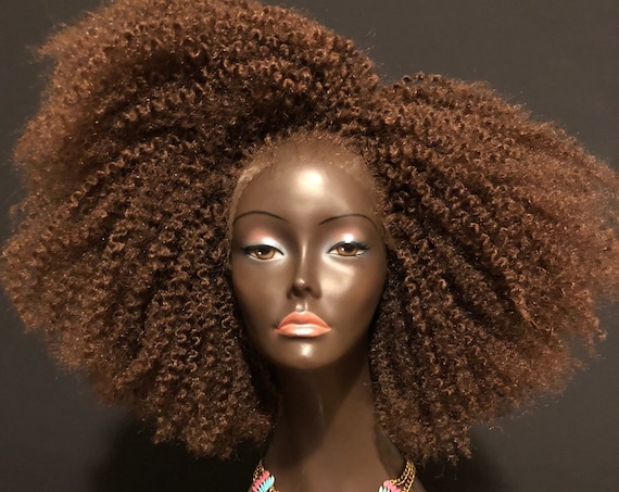 Braid Out Afro 'Asantewaa' Unit Brown Lace Wig By Essence Wigs