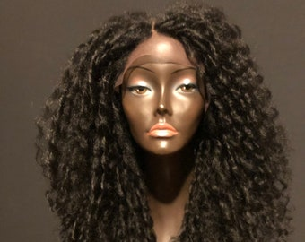 Essence Wigs BLACK Straw Curl Lace front wig Natural Hair