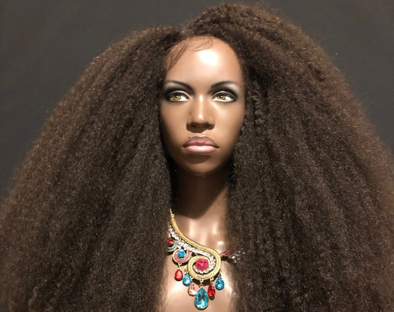 Hatshepsut Kinks Super Long & Full Voluminous Lace Front Wig African Queens Collection